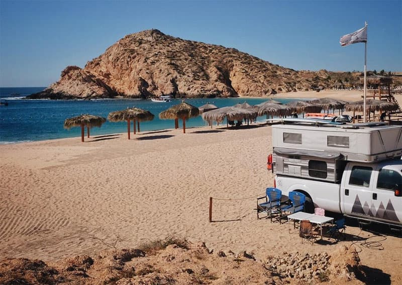Camping at Playa Santa Maria Baja