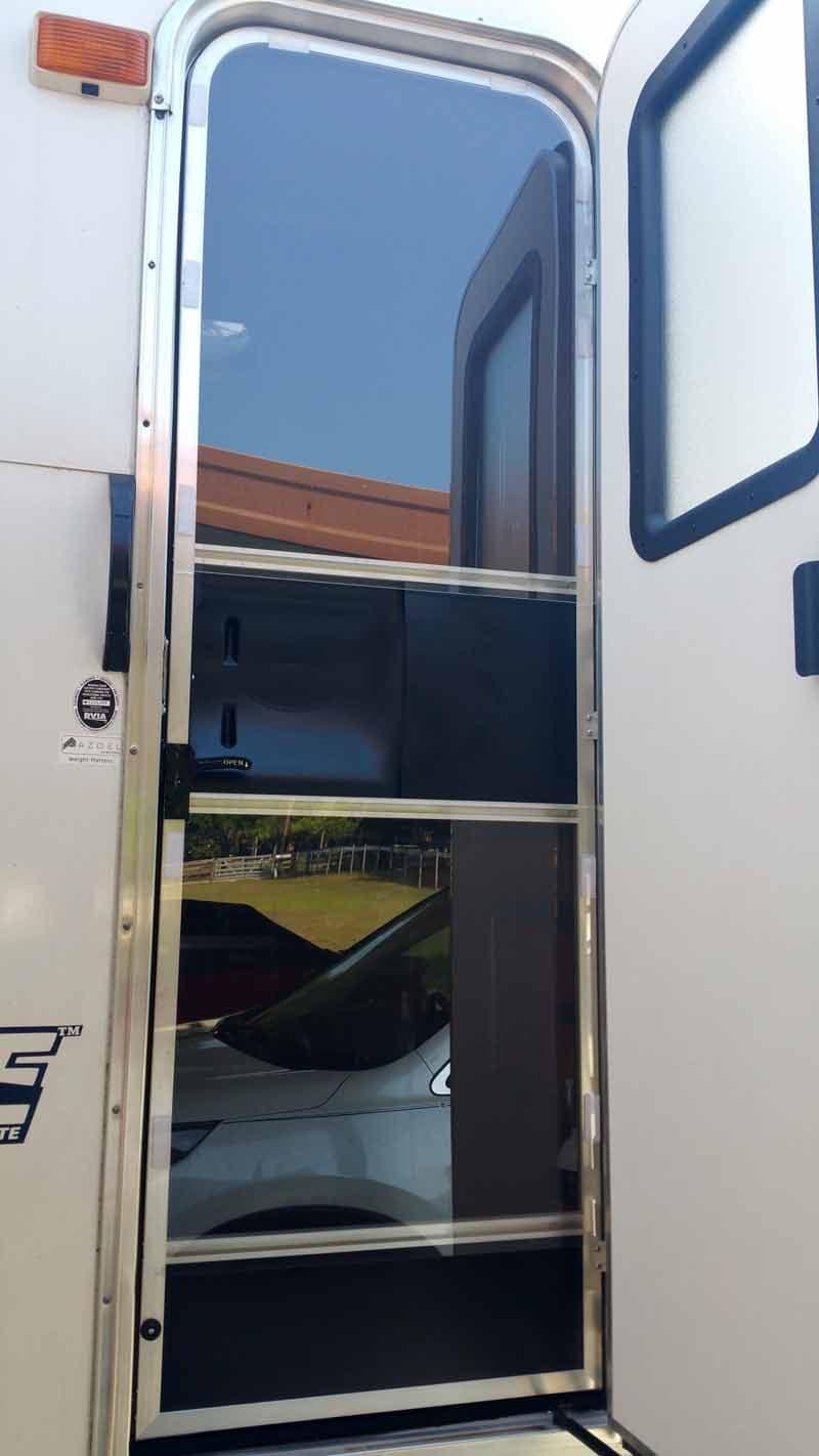Plexiglass camper door