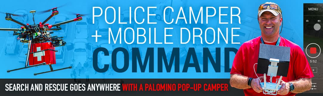 Police And Search And Rescue Camper Mobile Drone Command