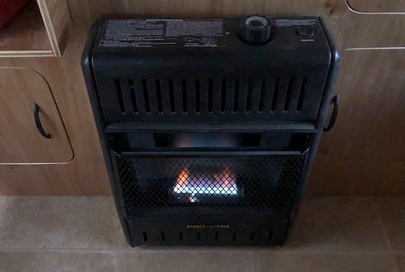 Pro com Propane Heat In Geo Den Flip Camper