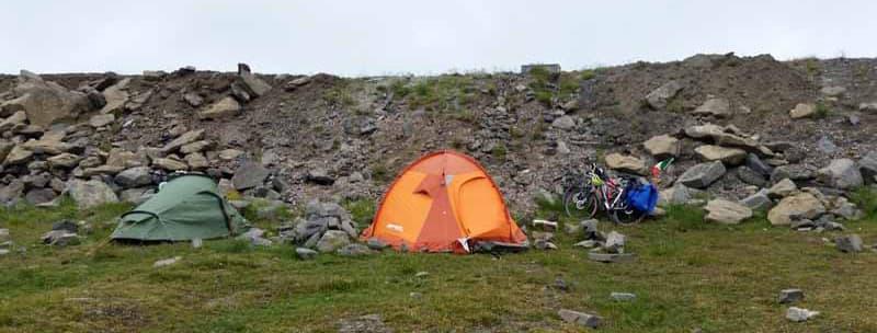 Pushbiker Tents in Nordkapp Navigating Europe