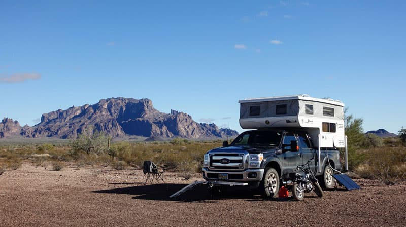 Boondocking in Quartzsite, Arizona with a Hallmark camper