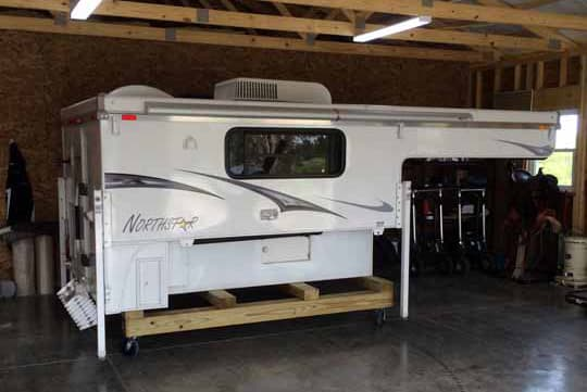 How to store a truck camper truck camper magazine for Rv trailer with garage