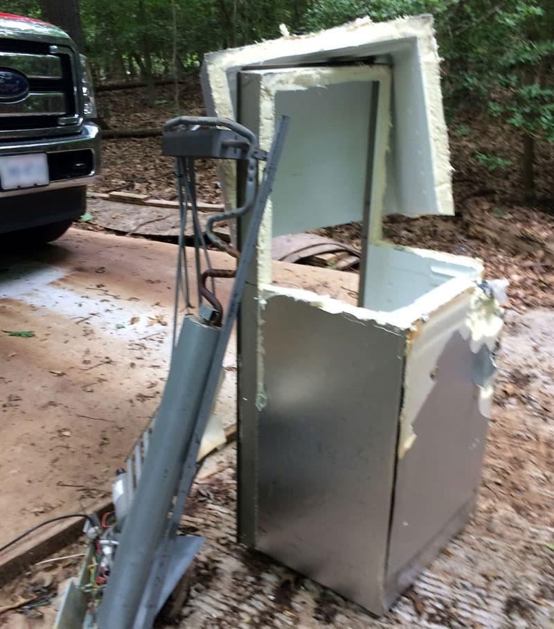 RV Refrigerator Cut Apart Fred