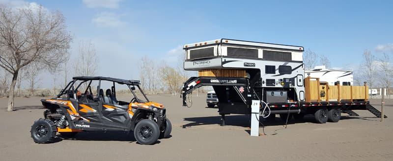 RZR Palomino Camper campsite