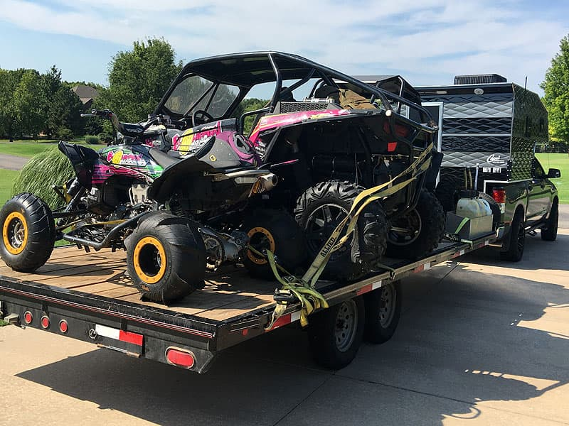 Towing a RZR and 450R