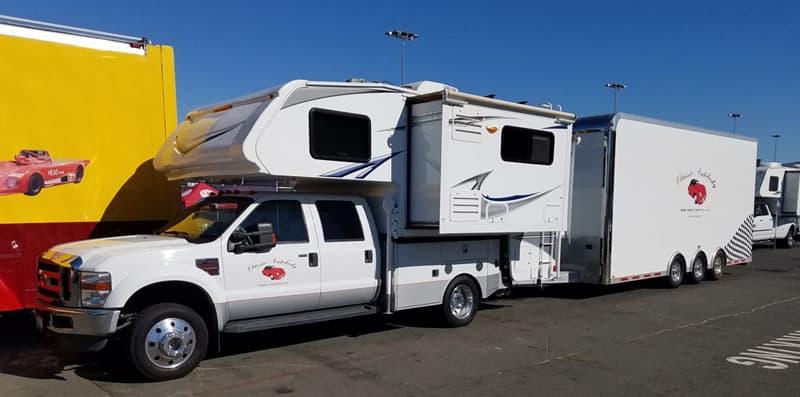 Racetrack Parking Lot Camping