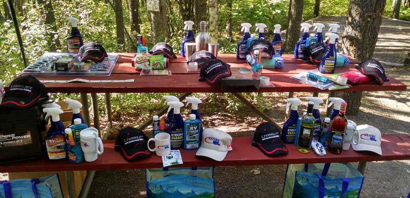 Raffle Prizes at Montana Truck Camper Rally