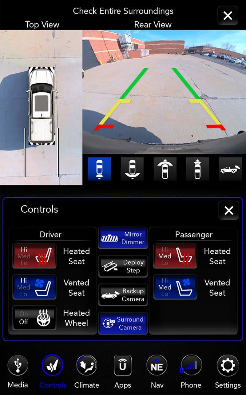 Bird's Eye Camera system in Ram 1500 truck