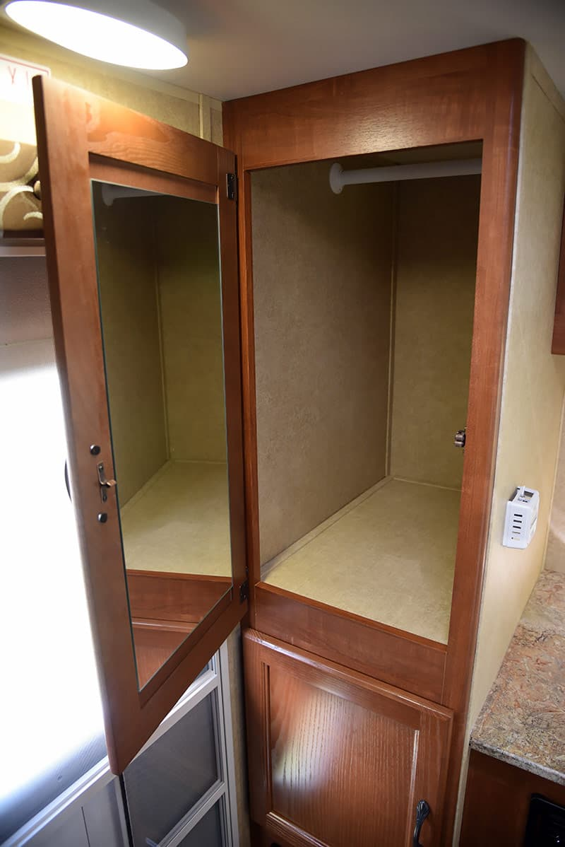 Closet storage in the Rayzr FB Review