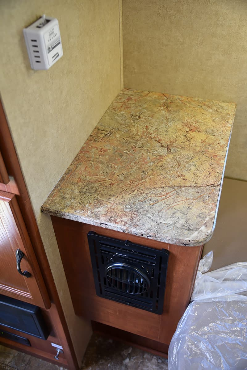Countertop next to bed in Rayzr FB