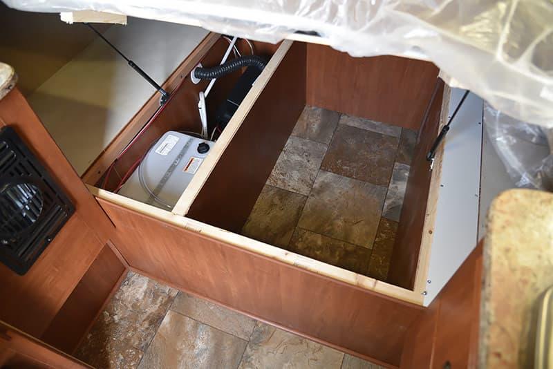 Rayzr camper under bed storage