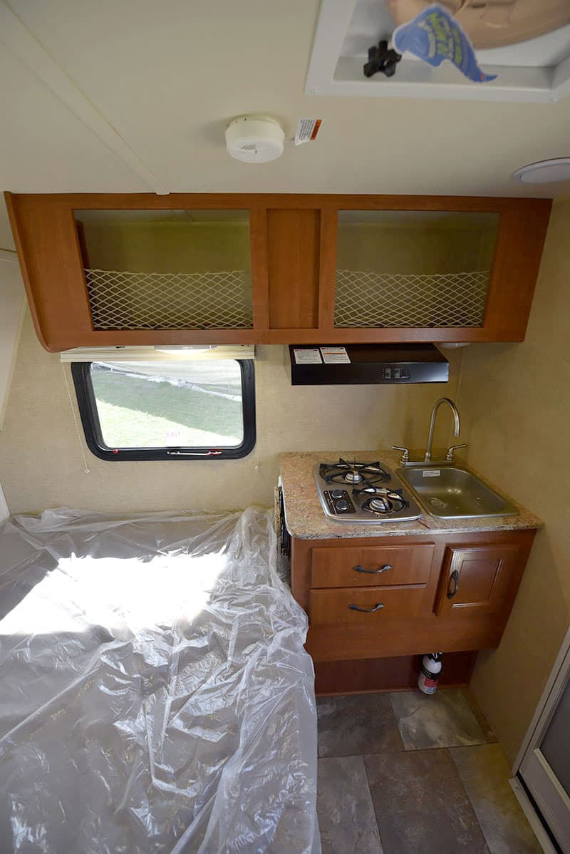 Rayzr Camper kitchen and cabinets