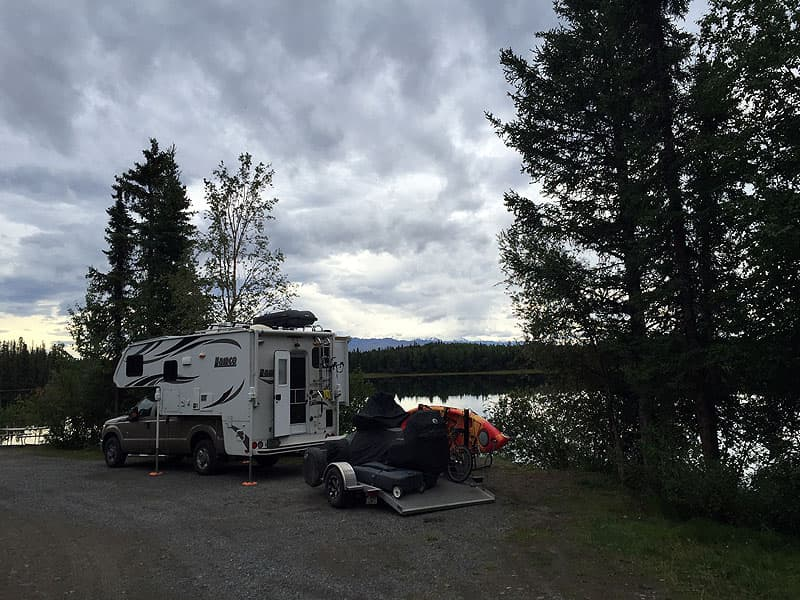 Grizzly Lake Campground near Slana, Alaska