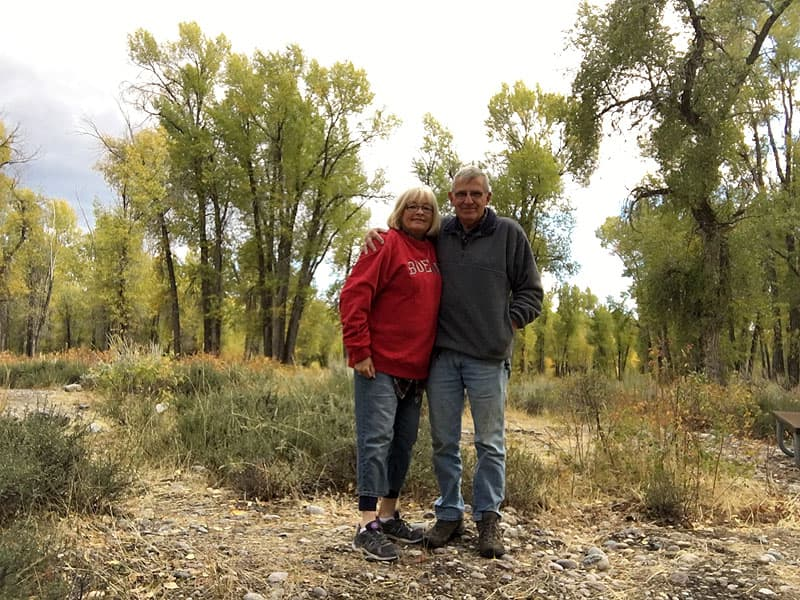 Janet and Jim at Gros Ventre Campground