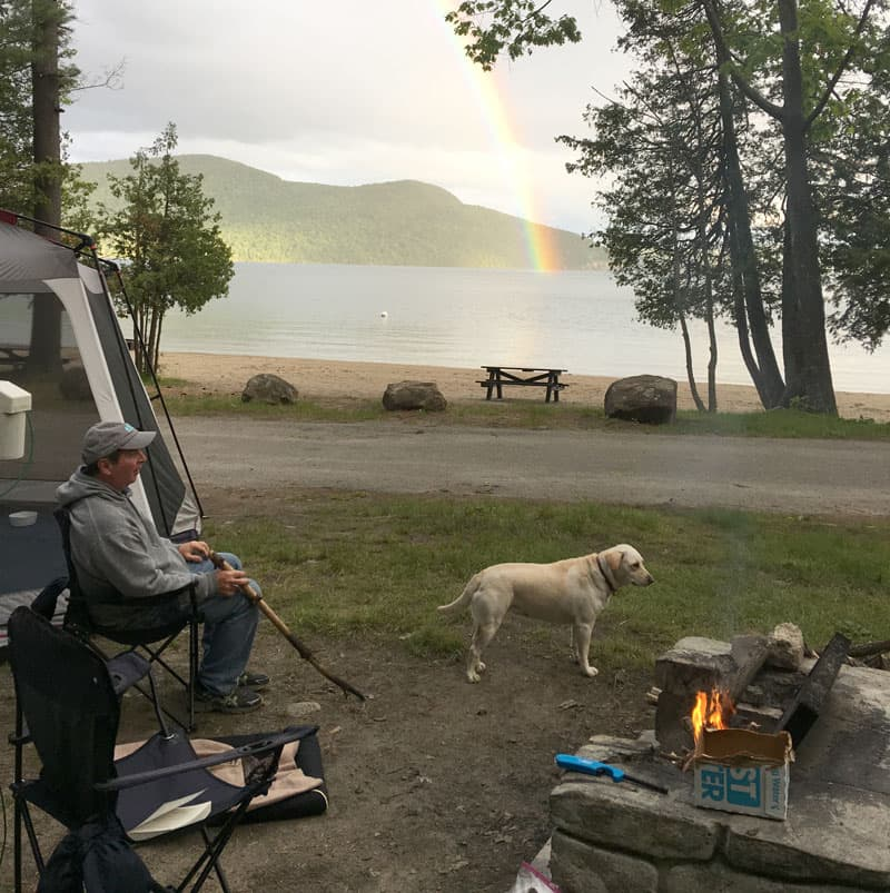 Reading spot, Lake George, New York