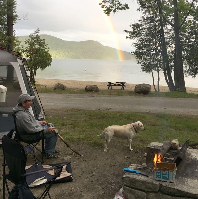 Reading spot, Lake George, New York
