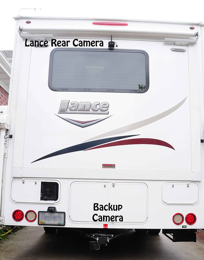 Rear Lance Camper With Two BackUp Cameras
