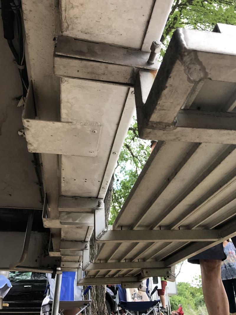 Using original step brackets for deck