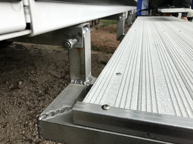 Welds for deck step