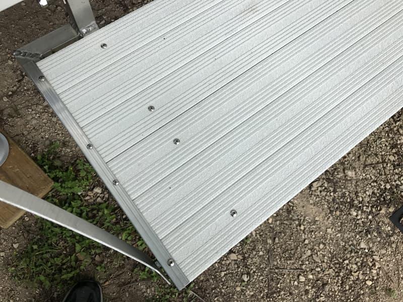Aluminum rear deck material