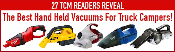 Recommended best vacuums for truck campers