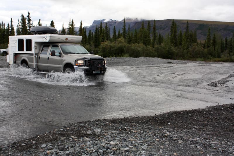 River Crossing on Nabesna Road, Wrangell-St Elias Park