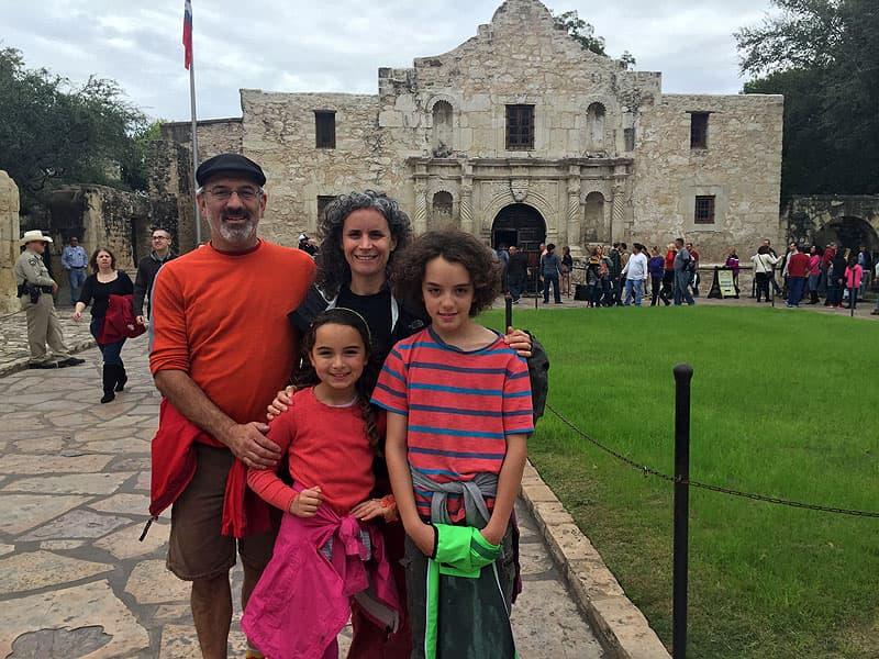 Road schooling in the Alamo, San Antonio, Texas