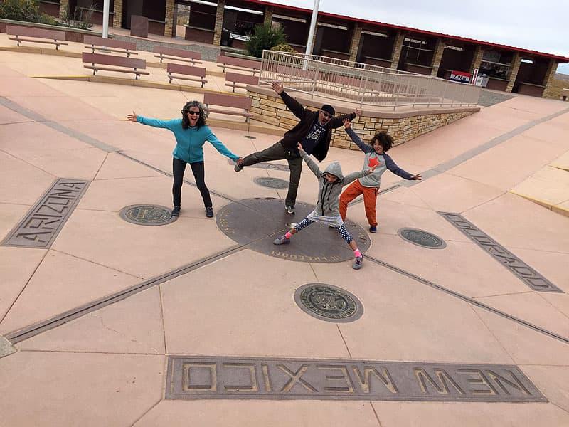 Four Corners, New Mexico, Colorado, Utah and Arizona meet
