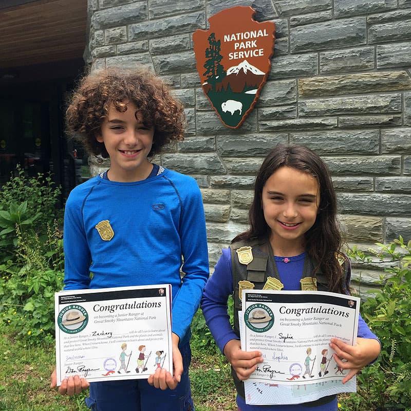 National Park Junior Ranger awards