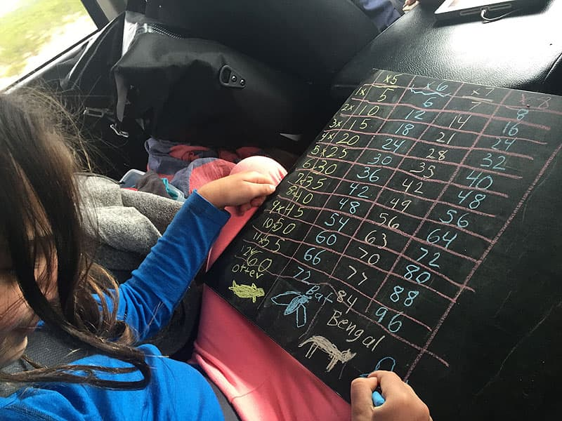 Road schooling multiplication times tables