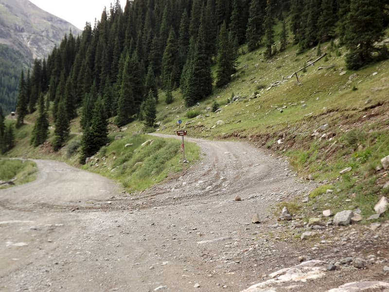Road to Picayune Gulch approaching Animas Forks