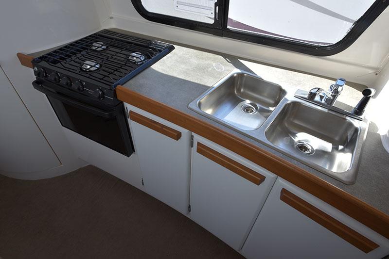 Roamer Camper Interior Kitchen Counter Top