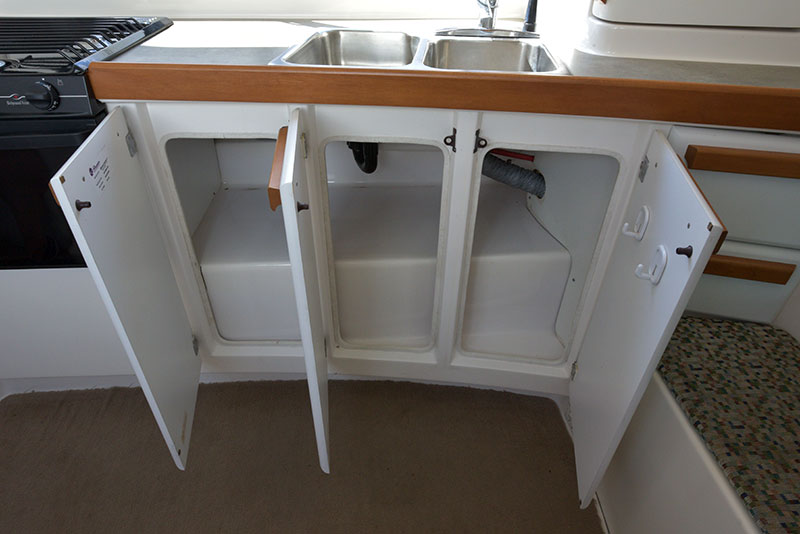 Roamer Camper Interior Kitchen Lower Storage