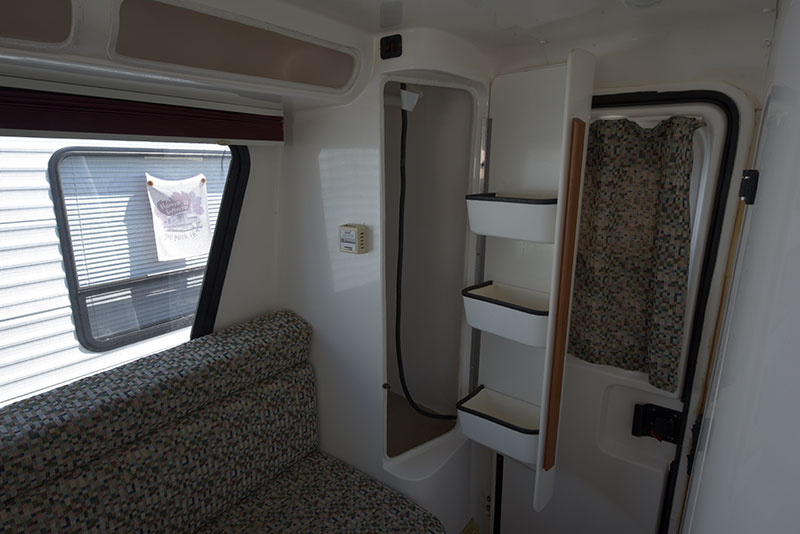 Roamer Camper Interior Rear Storage