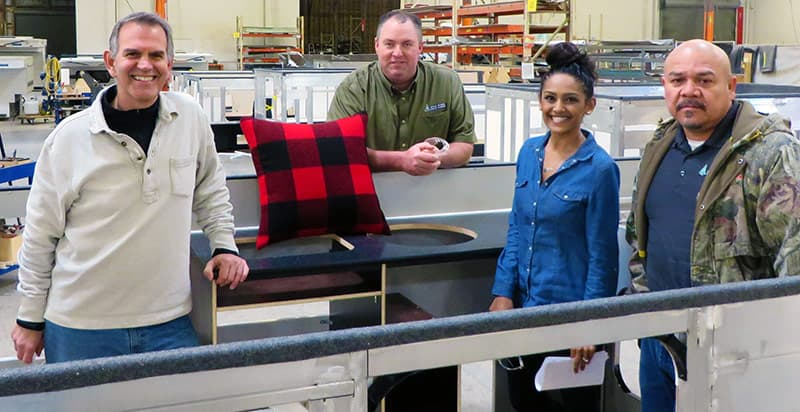 Robert Vogl at Four Wheel Camper manufacturing plant