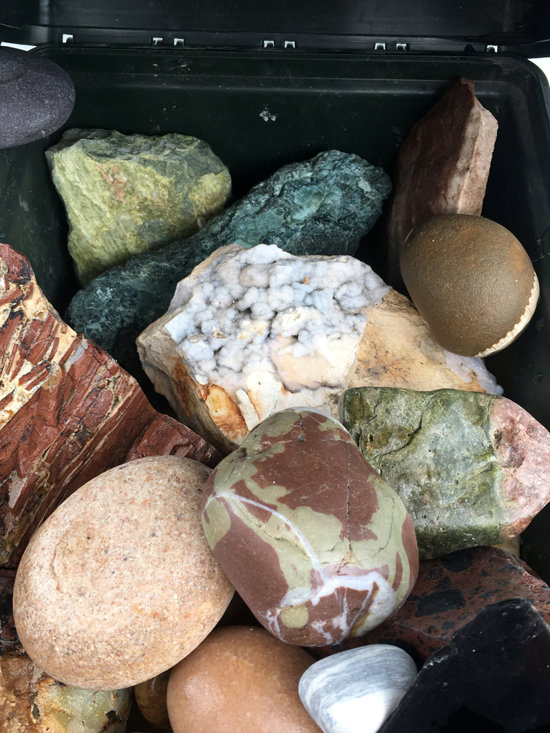 Rocks Close Up In Containers