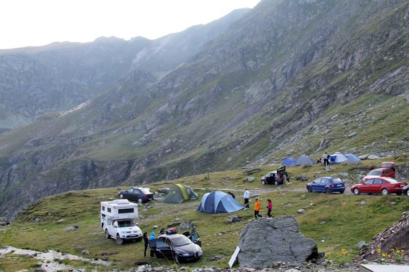 Romania-Campsite-Carpathian-Mountains-Lake-Balea