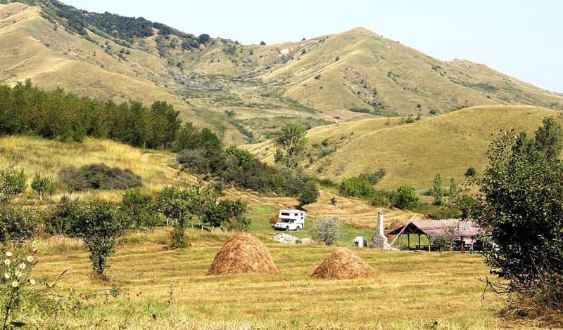 Romania-Campsite-at-Berca-Mud-Volcanoes
