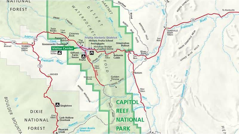 Route 24 Utah Map