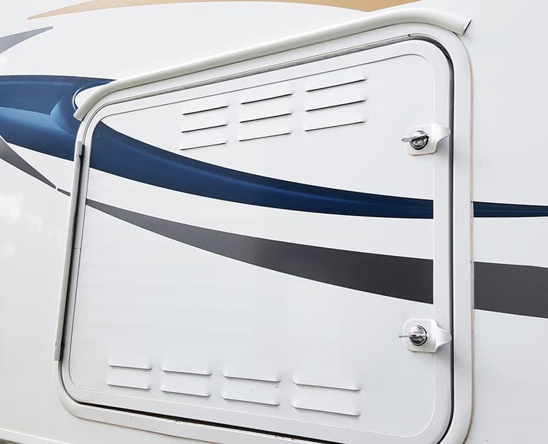 EZE Gutter propane compartment