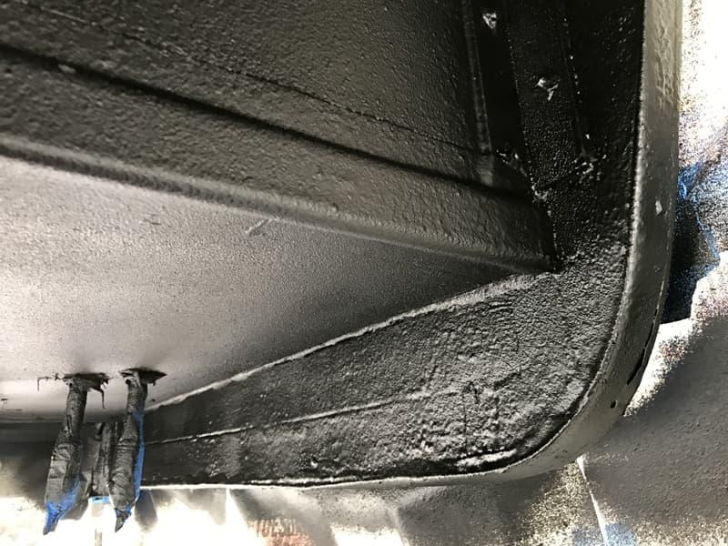 Rubber spray coating