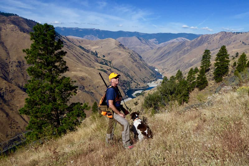 Salmon River near Riggins Idaho hunting Chukar