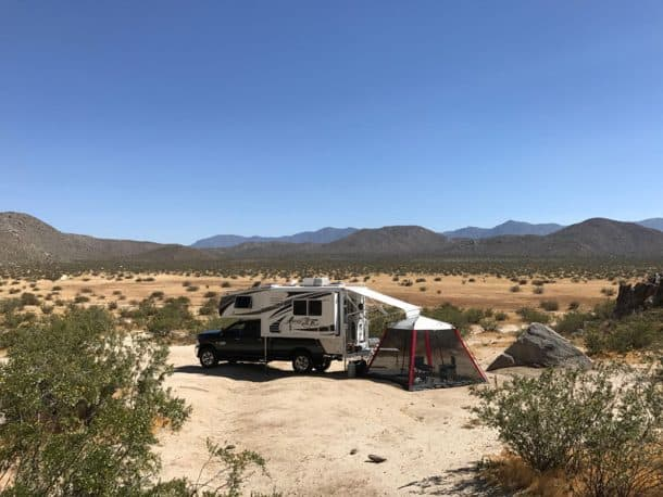 #245 - Beau MonaghanSan Diego County, 33.034445, -116.398141, California2016 Ram 35002016 Arctic Fox 992Camera Used - iPhone 7+This was taken May 13th.  It was a weekend after a large holiday and no one was there.  It is open land with no fees and it has a beautiful view.  It was just me and the dog.