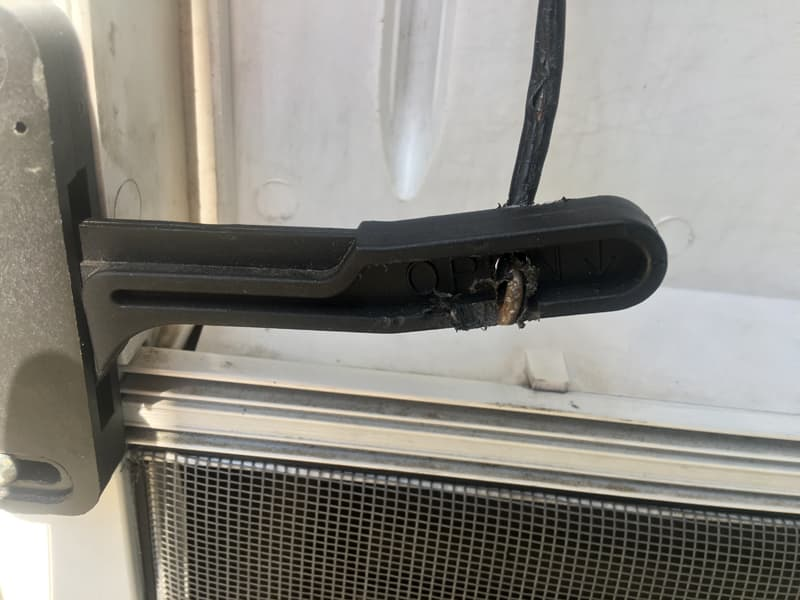 Screen Door Handle With Coat Hanger