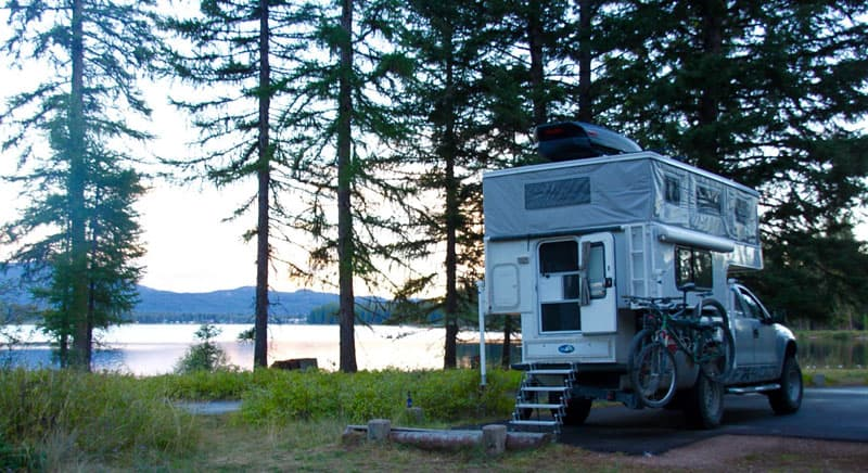 Camping at Sealy Lake in Montana