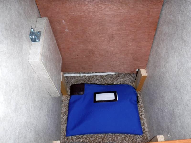 secret hiding space in truck camper