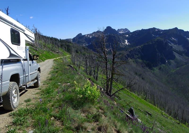 Seven Devils Mountains driving Idaho