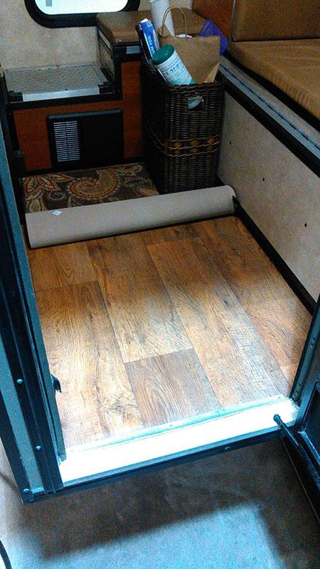 Shower floor before