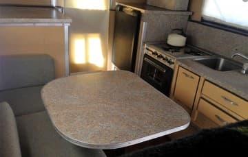 Siesta truck camper dinette and kitchen